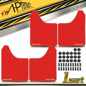 4pcs Red Universal Splash Guard Mud Flaps Mudguards For Car Suv Pickup Van Truck