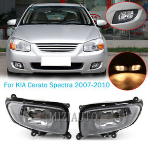 Pair Fog Light Lamp W Bulbs For Kia Cerato Spectra Sedan 2007 2008 2009 2010 L R