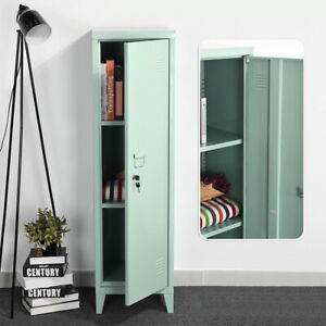 Kid Storage Cabinet Metal Locker W Shelves Office School Gym Closet 54 1 h