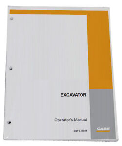Case Cx14 Mini Excavator Owners Manual Operators Maintenance Book Pn 6 37900