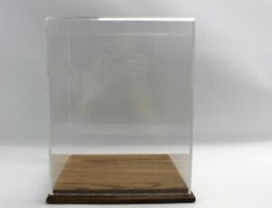 Acrylic Display Case Wood Base Figurine Display Case Great Condition 1