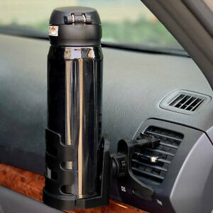 Car Air Vent Mount Cup Bottle Drink Beverage Can Holder Stand Black Auto Parts