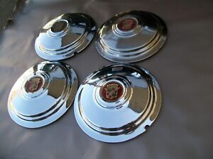 Lot Of 5 Genuine 1941 1946 Cadillac Hubcaps Full Wheel Covers