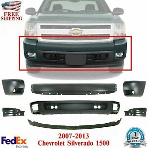 Front Bumper Primed Cover Valance Kit For 2007 2013 Chevy Silverado 1500