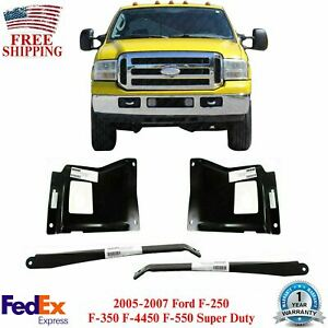 Front Bumper Outer Bracket Mount Plates For 05 07 Ford F 250 F 350 Super Duty