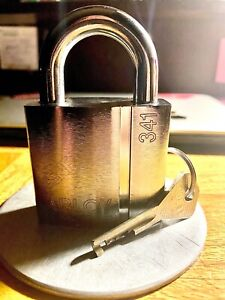 Abloy Finland 341 keyed Padlock pre owned W Original Key