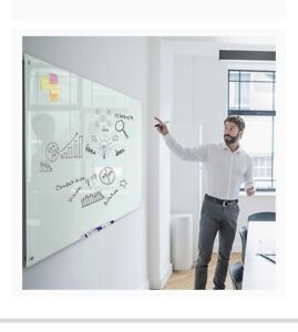 Magnetic Glass Dry Erase Board Magnetic White Board Whiteboard 48 X 32