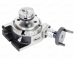 4 100mm Rotary Table 50mm 70mm Chuck Milling Indexing Cutting Machine Tools