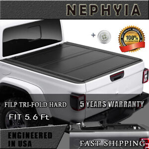 Flip Folding Hard Tonneau Cover Fits 2015 2020 Ford F150 5 6ft 67 2in Truct Bed