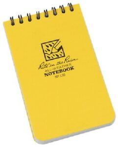 Rite In The Rain 2 Pack All weather 3 X 5 Yellow Top Spiral Notebook