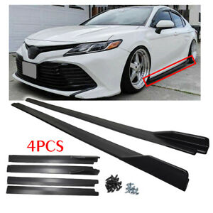 For 2018 2019 Toyota Camry Le Se Xse Xle Jdm Gt Style Black Side Skirt Extension