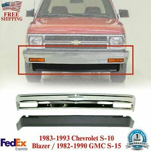 Front Bumper Chrome Lower Valance For 1982 1993 Chevy S10 Gmc S15 Pickup