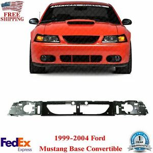 Front Bumper Header Panel Abs For 1999 2004 Ford Mustang Base Convertible