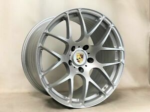 19 inch Porsche Ruger Forged Wheels 996 997 991 C4s Turbo Silver 5x130 Lugs