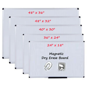 Viz pro Dry Erase Board Magnetic Whiteboard Home Office School Aluminium Frame