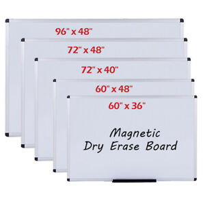 Viz pro Large Dry Erase Board Magnetic Whiteboard Office School Aluminium Frame