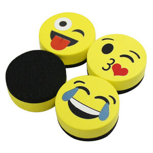 Viz pro Magnetic Smiley Face Circular Whiteboard Eraser Dry Erasers Baby s Gifts