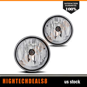 For 2006 2010 Ford F150 Truck Rh Lh Fog Lights With Bulbs Clear Pair