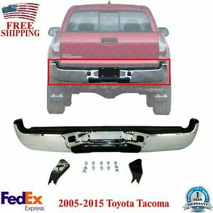 Rear Step Bumper Assembly Chrome Steel For 2005 2015 Toyota Tacoma Sr5 Pkg