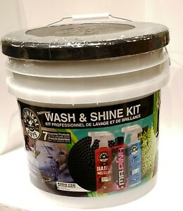Car Wash And Shine 7 Piece Kit Detailing Automotive Car Supplies
