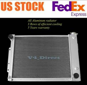 3 Rows Aluminum Radiator For 1967 1969 68 Chevy Camaro firebird trams Big Block