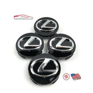 Black Chrome Lexus Center Caps 62mm Hub Caps 2 5 All 2006 2019 Lexus Models