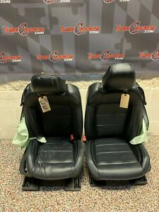 2020 Ford Mustang Gt Oem Front Seats Black Leather Blue Stitch Damaged