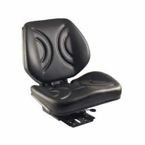 Low Back Seat Black Vinyl With Mechanical Suspension Compatible With Ford