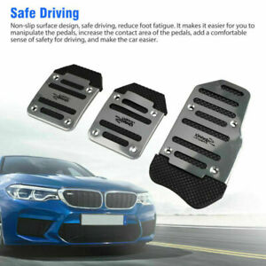 3pcs Universal Non Slip Manual Gas Brake Foot Pedal Pad Cover Car Accessories Us