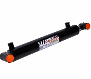 Hydraulic Cylinder Welded Double Acting 2 Bore 8 Stroke Cross Tube End 2x8 New