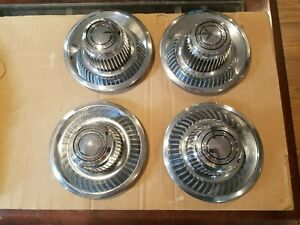 Nos 1968 1980 Corvette Camaro Chevelle Nova Rally Wheel Derby Hub Caps Set B39