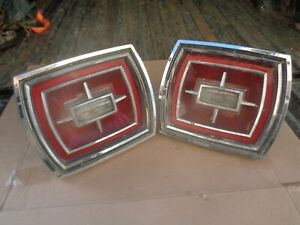 1966 Ford Galaxie Tail Light Lens Bezel Reverse Assembly Hot Rod Jalopy Low Ride
