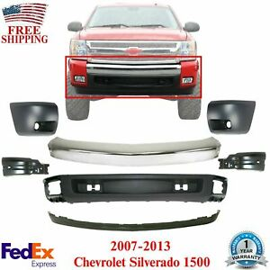 Front Bumper Chrome Ends Valance Extensions For 2007 13 Chevrolet Silverado 1500