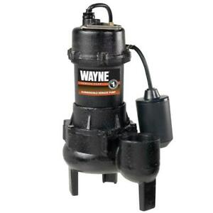 1 2 Hp Cast Iron Sewage Pump With Tether Float Switch