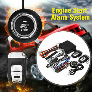 9pcs Car Keyless Entry Engine Start Alarm System Push Button Remote Starter Stop