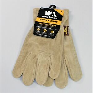 Wells Lamont Durable Cowhide Leather Work And Home Gloves Large