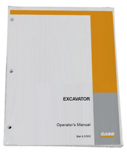 Case Cx25 Mini Case Excavator Owners Manual Operators Maintenance Book 6 37910