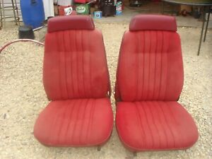 Vintage Rat Rod Muscle Car Red Bucket Seats Oem Truck Dodge Chrysler