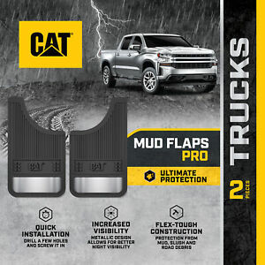 Mud Flaps Splash Guards For Front Or Rear Tires Easy Install Universal Fit Cat