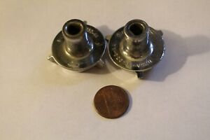 Pair Of Chrome Color Plastic Tuners For An Old Ford Car Radio D2sa 18a932 aa
