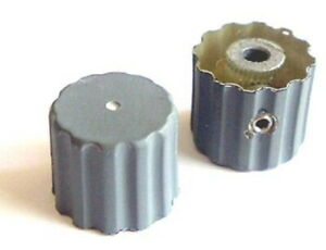 Scalloped Panel Equipment Volume Control Knobs D shaft Gray Plastic 10 Pieces