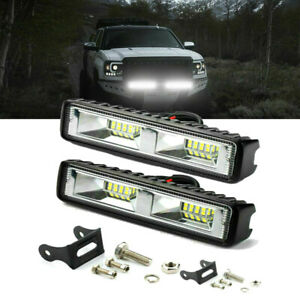 2pcs Led Work Light Bar 48w Fog Spot Lamp Car Truck Suv Strobe Warning Lamp