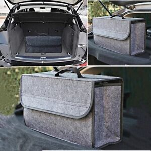 Car Trunk Boot Cargo Organizer Portable Storage Collapsible Bag Suv Truck Gray