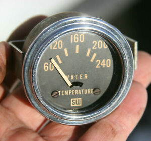 Stewart Warner Vintage 2 1 16 12v Electric Water Temperature Gauge 4