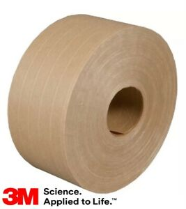 Reinforced 1 Roll Kraft 3m Water Activated Paper Tape 6144 70 Mm X 450 Ft Sale