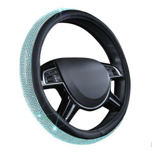 Carpass Car Steering Wheel Cover Leather With Diamond Beautiful Surface Lighting