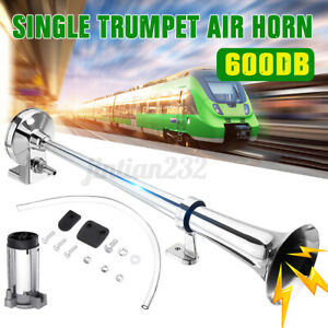 600db Super Loud Air Horn Compressor Single Trumpet Train Car Truck Boat