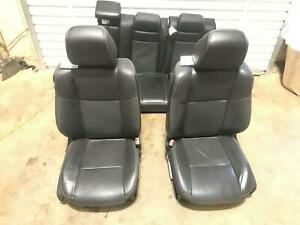 11 12 13 14 Dodge Charger Black Leather Seats Set Front Rear Seat Oem
