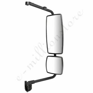 right Black Truck Mirror Complete For 02 18 International Durastar 4300