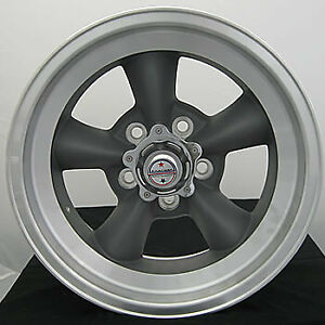 4 Staggered 15x7 15x8 American Racing Vintage Torq Thrust D Gray 5x4 5 6